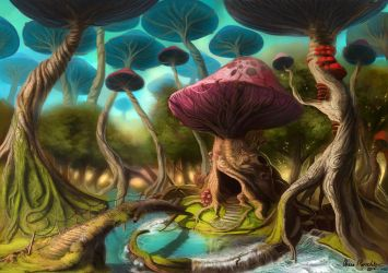 Fungal Forest by DrManiacal