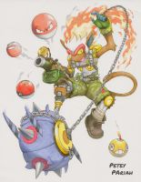 Pokemon X Overwatch: Infernape X Junkrat