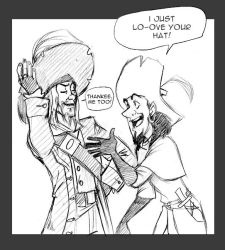 Clopin,Barbossa: Shared Love by crumblygumbly