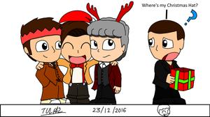 The Doctor's Christmas Hats by tulf42