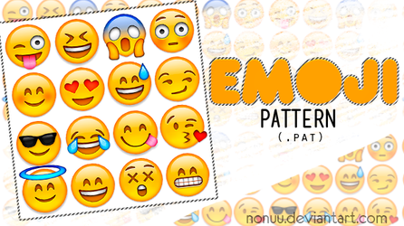 Emoji Pattern (.pat) by Nonuu