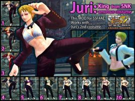 SSF4AE Juri King amorous costume MOD by dsFOREST
