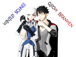 Qrow Branwen and Winter Schnee [Model DL's!] by RosewickTrash