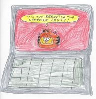 Garfield - Laptop computer by dth1971