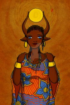 Hathor is a beautiful African Mama by Tika-estudio