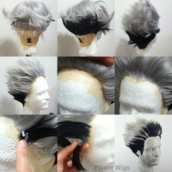 Bokuto wig tutorial by Pisaracosplay