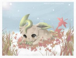 + leafeon in the snow + by Midna01