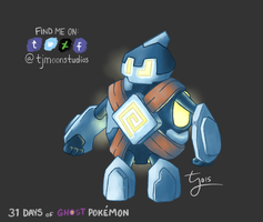 Day 10: Golett - 31 Days of Ghost Pokemon