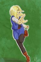 F:art- Android 18 by A-Fistful-Of-Kittens
