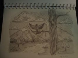 Bird and its Mountains by Sirtec