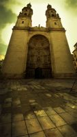 Logrono's Cathedral by gerbenher