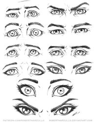 Eye Expressions Male and Female by robertmarzullo