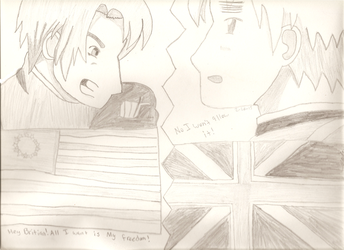 America v.s England by IesKitty-Cat