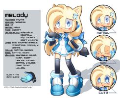 Melody New Reference Sheet by PixiTales