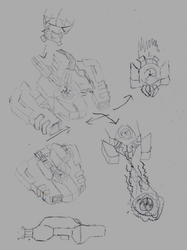 Player ship sketch by Donitz