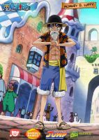 Monkey D Luffy Dressrosa Outfit by donaco