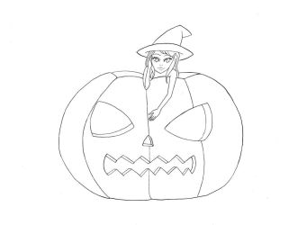 Hope and Pumpkin Lineart by AnnyOther