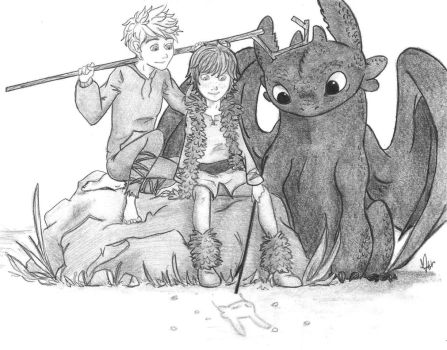 Hijack + Toothless by Laven96