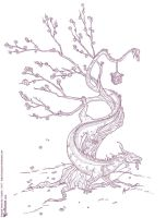 Dragon in the Tree by joanniegoulet