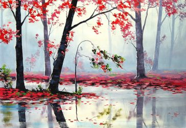 Misty River by artsaus