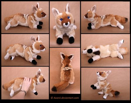 Plushie Commission: Rewind the Coyote by Avanii