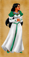 Pocahontas as Odette  (color) [Updated!] by vanillacoke-disney