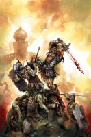conan and 12gates of hell by michalivan