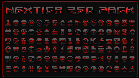Icon Pack Nextica Red by Agelyk