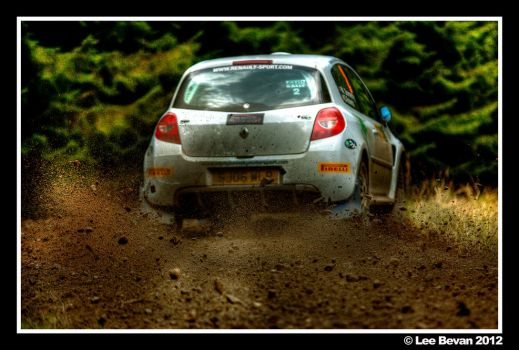 Rally Car Clio Action HDR by Leeby