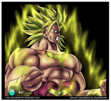 Broly drawing '11 by ShynTheTruth