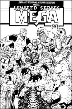 Mega mock cover BnW by Joe-Singleton