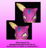 Shiny Sneasel hat by PokeMama