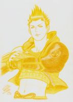 BSR48 Tribute: Yellow Colored Pencil Ieyasu by Mky-Amako