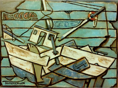 Commercial Fishing Boat Painting by TOMMERVIK