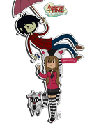 Lilly and Marshall Lee by AskLillytheHuman