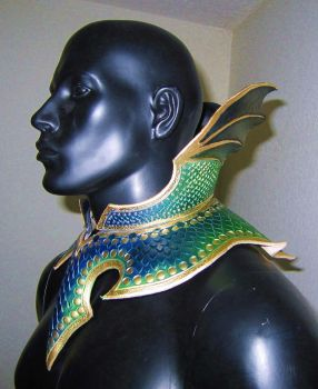 Dragon Armor Gorget and Collar by Azmal