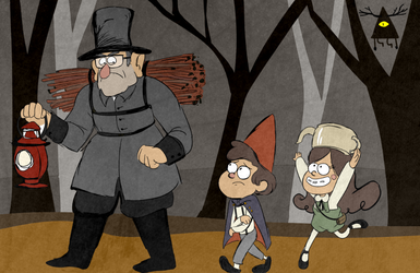 Over the Gravity Falls by Arkham-Insanity