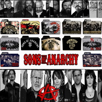 Sons of Anarchy folder icons: S1-S6 by F0l13aD3ux