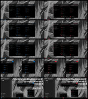 Pure Black Glass Blue and Red For Win10 April 1803 by Cleodesktop