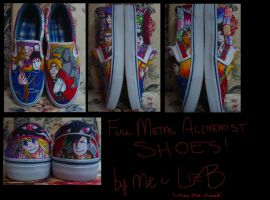 Full Metal Alchemist Shoes by soccercat4685