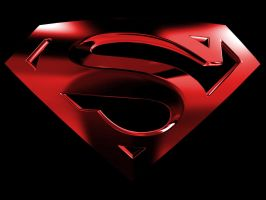Superman Logo with Black BG by kftapout