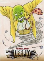 CBLDF Liberty Sketch Cards by GeekyWhiteGuy