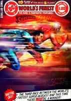 Superman vs Flash by keithid