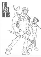 Joel and Ellie from The Last of Us by davidstonecipher