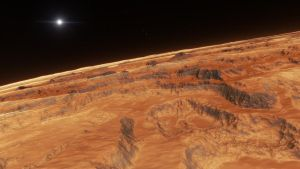 Aerial view above scorched sub-earth #5 by nirklars