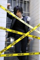 Izaya Orihara keep out by arkou7