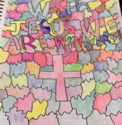 with Jesus we are winners by littlesonic1234