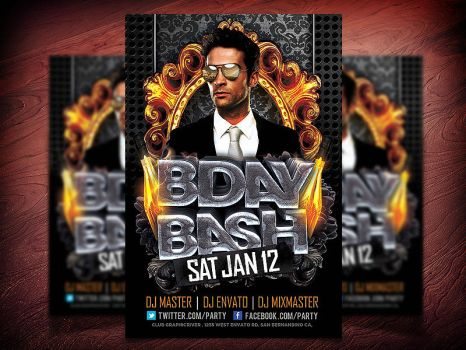 Birthday Party Flyer PSD by Industrykidz