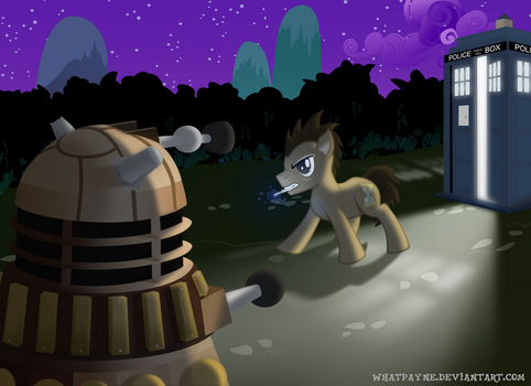 Dr Whooves and the Dalek by Whatpayne