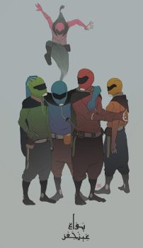 moroccan power rangers by Bad-Blood
